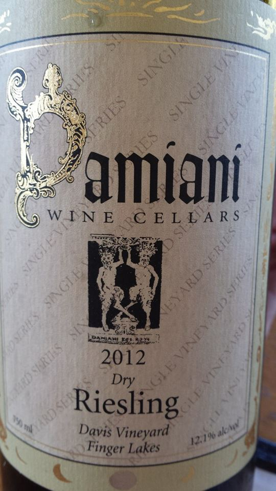 Damiani Wine Cellars – Dry Riesling 2012 – Davis Vineyard – Finger Lakes