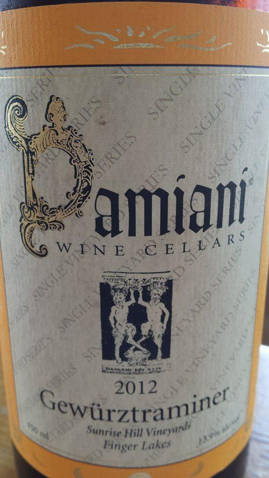 Damiani Wine Cellars – Gewürztraminer 2012 – Sunrise Hill Vineyards – Finger Lakes