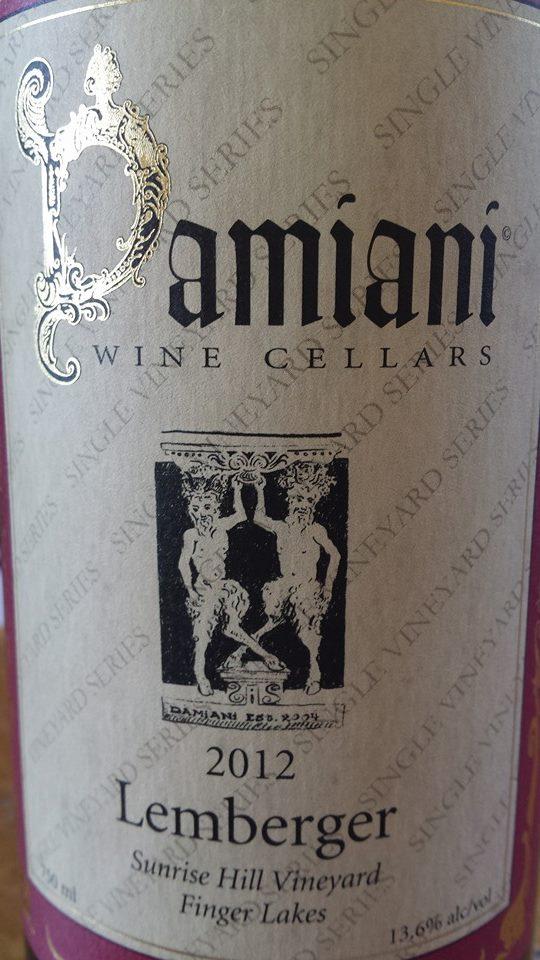 Damiani Wine Cellars – Lemberger 2012 – Sunrise Hill Vineyard – Finger Lakes