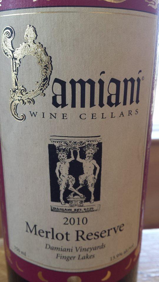 Damiani Wine Cellars – Merlot Reserve 2010 – Damiani Vineyards – Finger Lakes