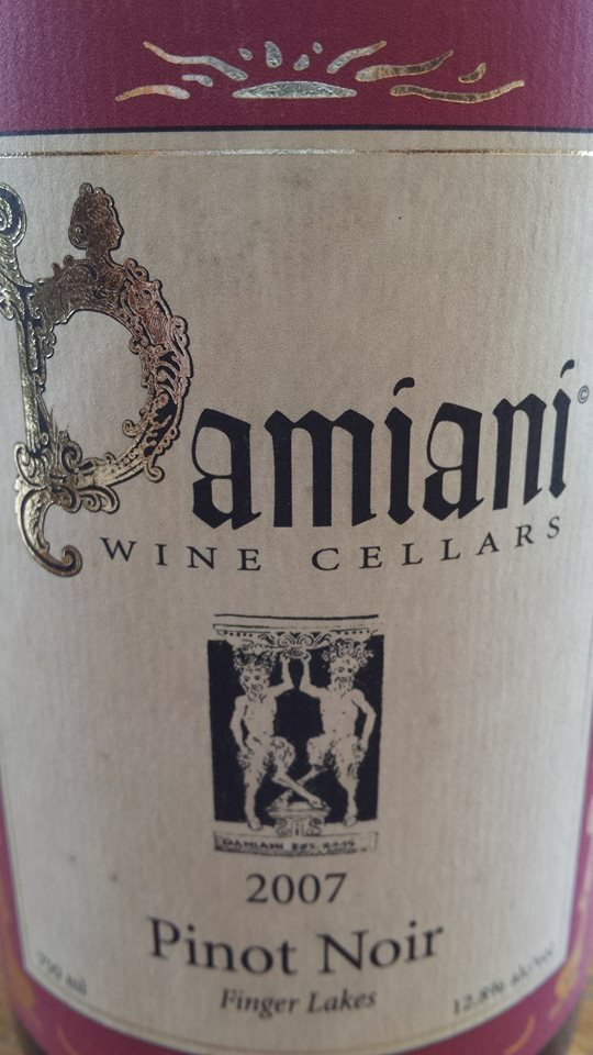 Damiani Wine Cellars – Pinot Noir 2007 – Finger Lakes