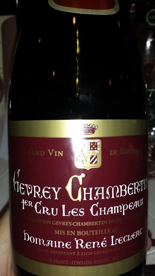 Domaine René Leclerc – Gevrey-Chambertin 1er Cru Les Champeaux 2003