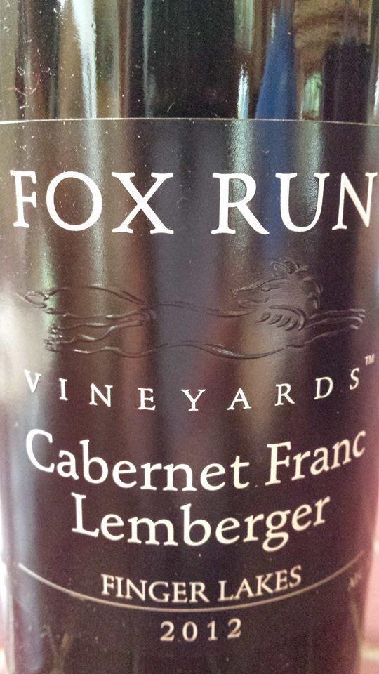Fox Run Vineyards – Cabernet Franc Lemberger 2012 – Finger Lakes
