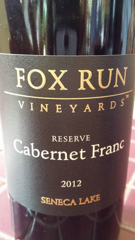 Fox Run Vineyards – Reserve Cabernet Franc 2012 – Seneca Lake