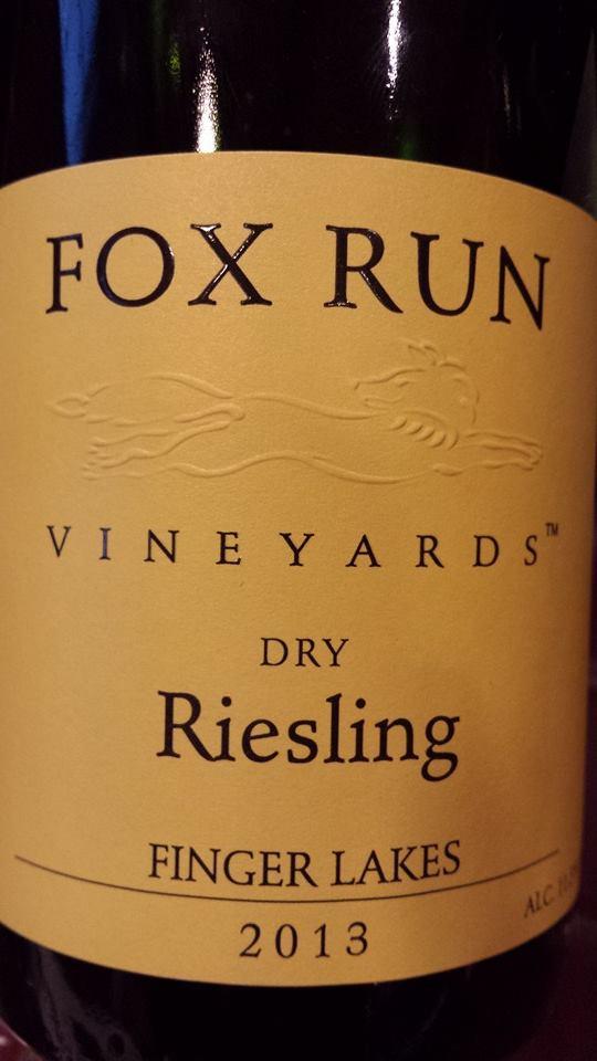 Fox Run Vineyards – Dry Riesling 2013 – Finger Lakes