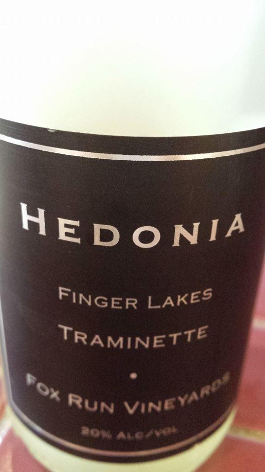 Fox Run Vineyards – Hedonia 2011 – Traminette – Finger Lakes