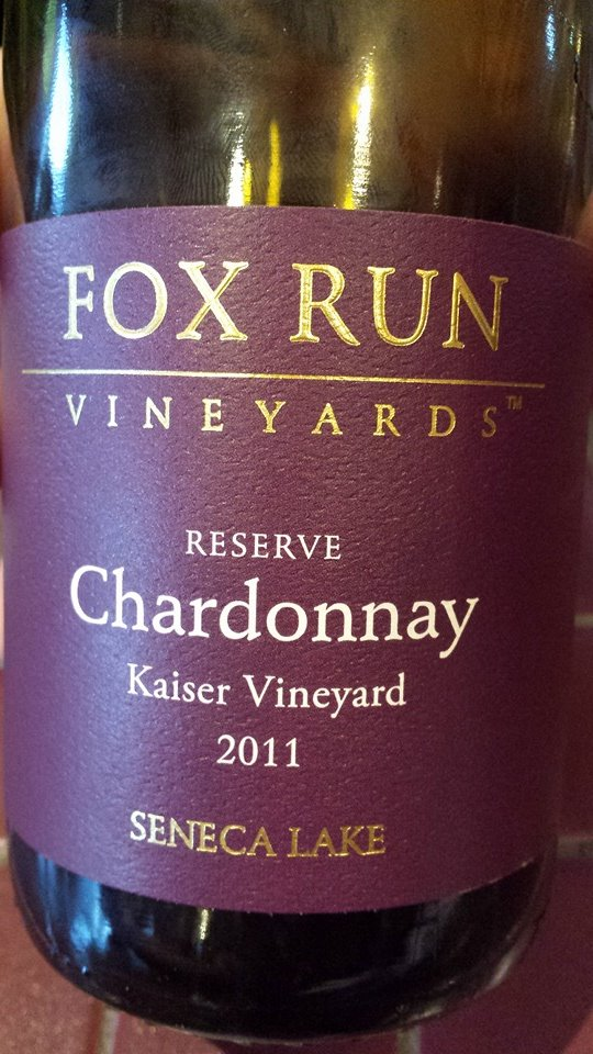Fox Run Vineyards – Reserve Chardonnay 2011 – Kaiser Vineyard – Seneca Lake
