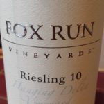 Fox Run Vineyards – Riesling 10 – 2011 – Hanging Delta Vineyard – Finger Lakes
