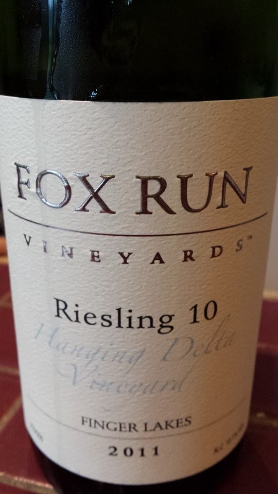 Fox Run Vineyards – Riesling 10 – 2011 – Hanging Delta Vineyard – Finger Lakes