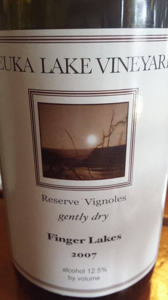 Keuka Lake Vineyards – Reserve Vignoles 2007 – Gently Dry – Finger Lakes