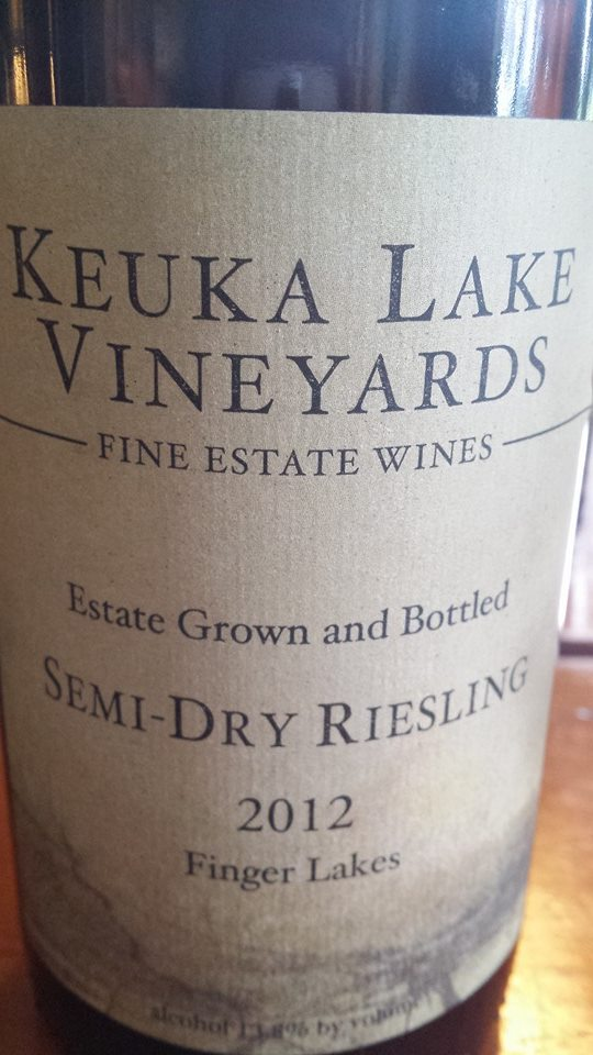 Keuka Lake Vineyards – Semi-Dry Riesling 2012 – Finger Lakes