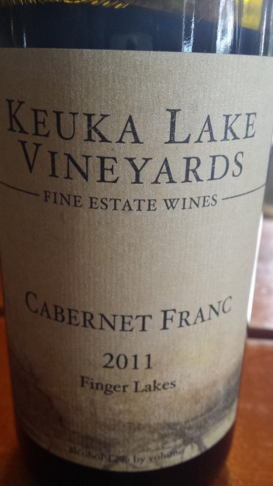 Keuka Lake Vineyards – Cabernet Franc 2011 – Finger Lakes