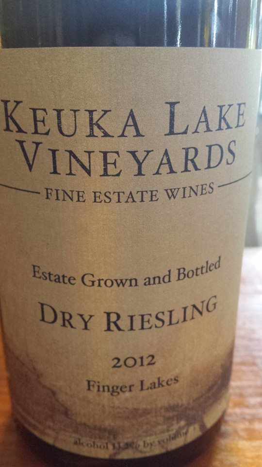 Keuka Lake Vineyards – Dry Riesling 2012 – Finger Lakes