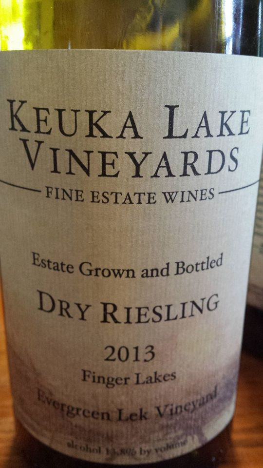 Keuka Lake Vineyards – Dry Riesling 2013 – Evergreen Lek Vineyard – Finger Lakes