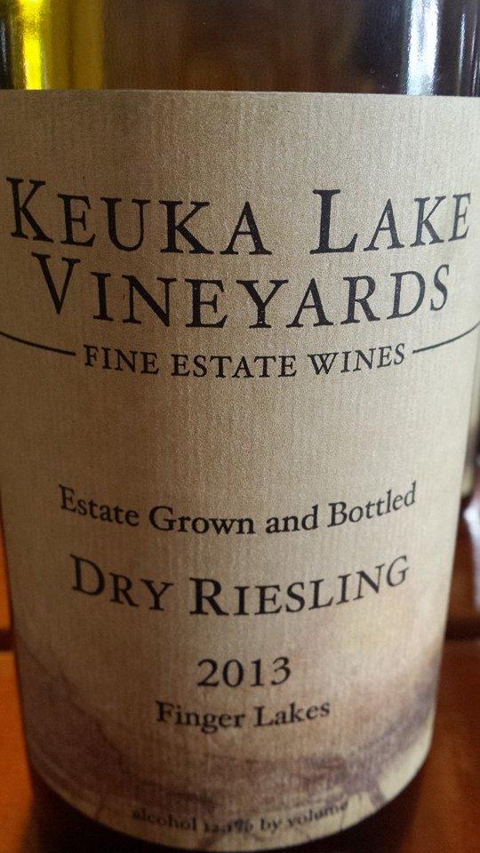 Keuka Lake Vineyards – Dry Riesling 2013 – Finger Lakes