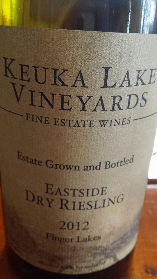 Keuka Lake Vineyards – Eastside Dry Riesling 2012 – Finger Lakes