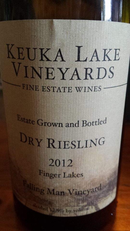Keuka Lake Vineyards – Falling Man Vineyard – Dry Riesling 2012 – Finger Lakes