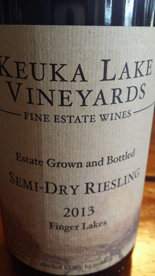 Keuka Lake Vineyards – Semi-Dry Riesling 2013 – Finger Lakes