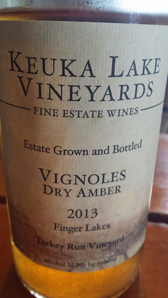 Keuka Lake Vineyards – Vignoles Dry Amber 2013 – Turkey Run Vineyard – Finger Lakes