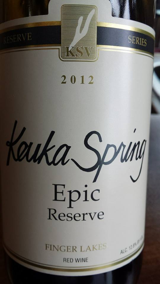 Keuka Spring Vineyards – Epic Reserve 2012 – Finger Lakes