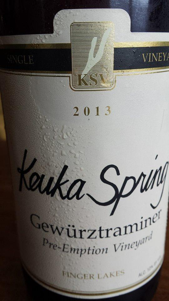 Keuka Spring Vineyards – Gewürztraminer Pre-Emption Vineyard 2013 – Finger Lakes