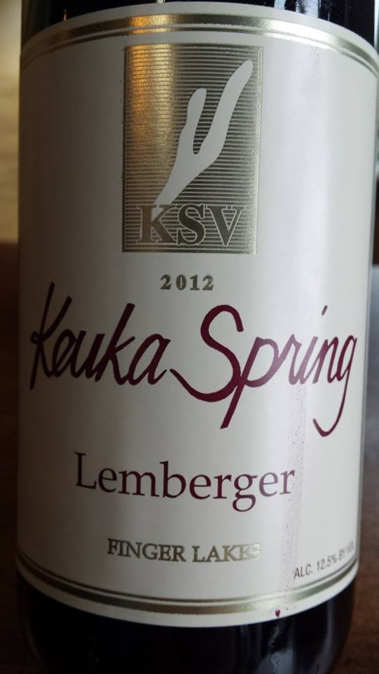Keuka Spring Vineyards – Lemberger 2012 – Finger Lakes