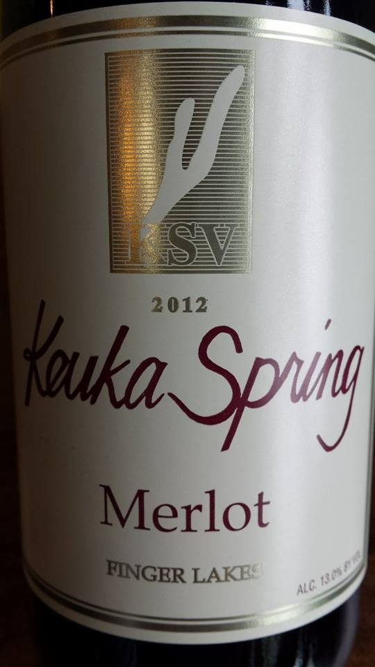 Keuka Spring Vineyards – Merlot 2012 – Finger Lakes