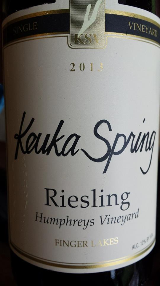 Keuka Spring Vineyards – Riesling 2013 – Humphreys Vineyard – Finger Lakes