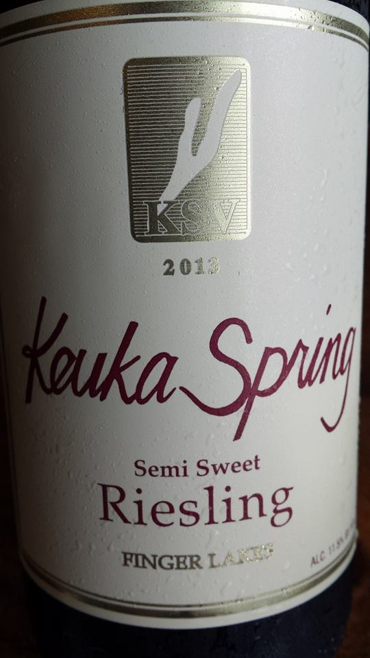 Keuka Spring Vineyards – Semi Sweet Riesling 2013 – Finger Lakes