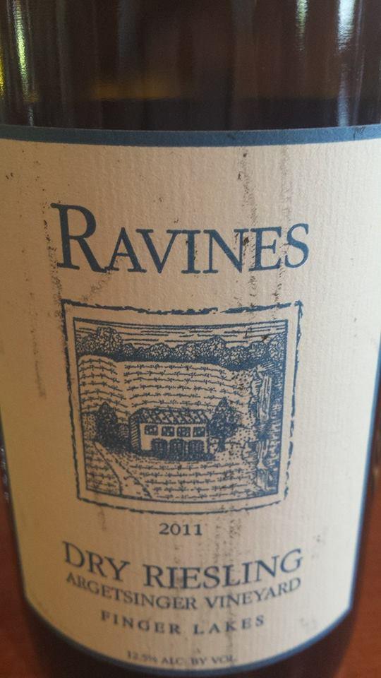Ravines – Dry Riesling 2011 Argetsinger Vineyard – Finger Lakes