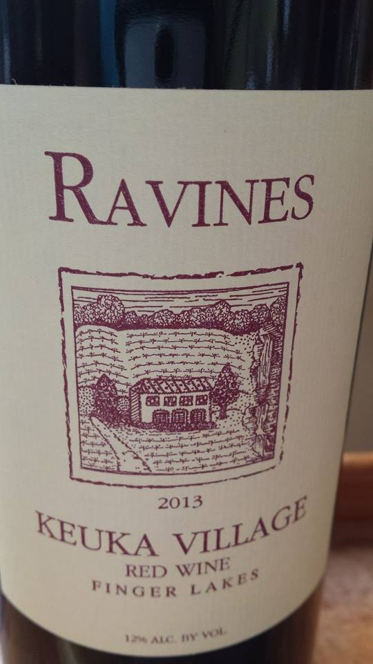 Ravines – Keuka Village 2013 – Red Wine – Finger Lakes