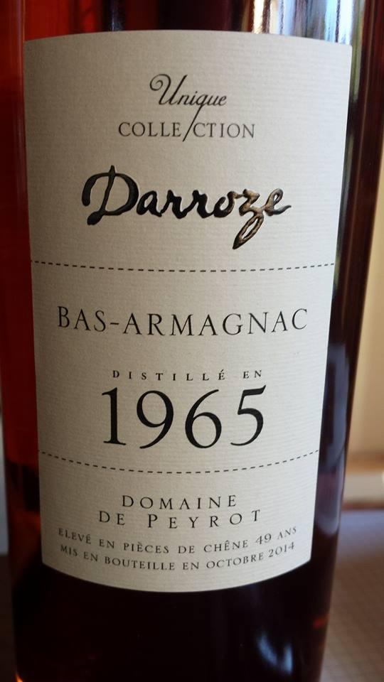 Unique Collection Darroze – Millésime 1965 – Domaine de Peyrot – Bas-Armagnac