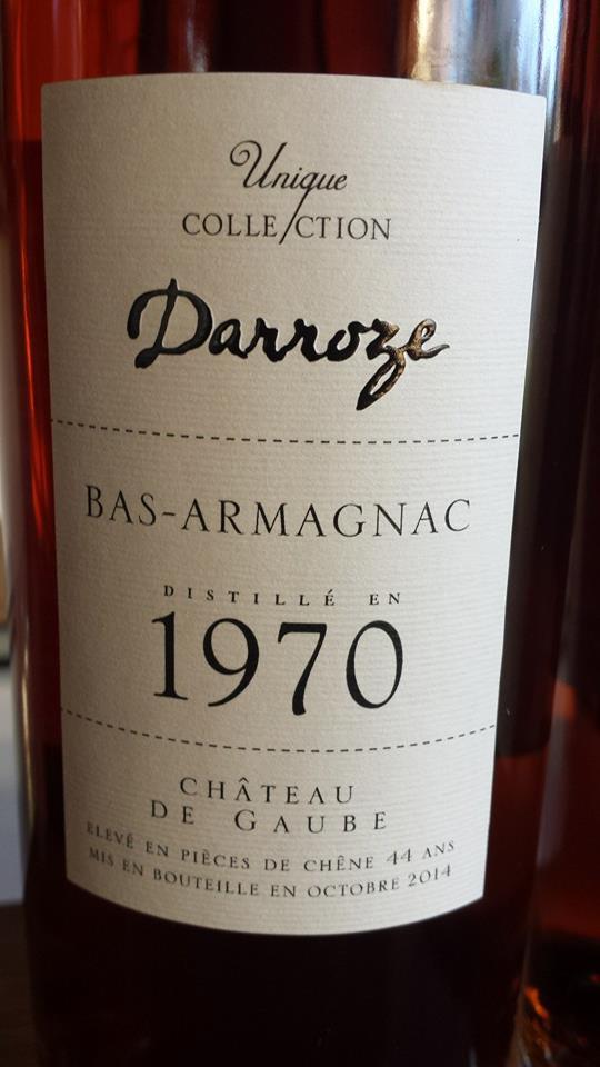 Unique Collection Darroze – 1970 – Château de Gaube – Bas-Armagnac
