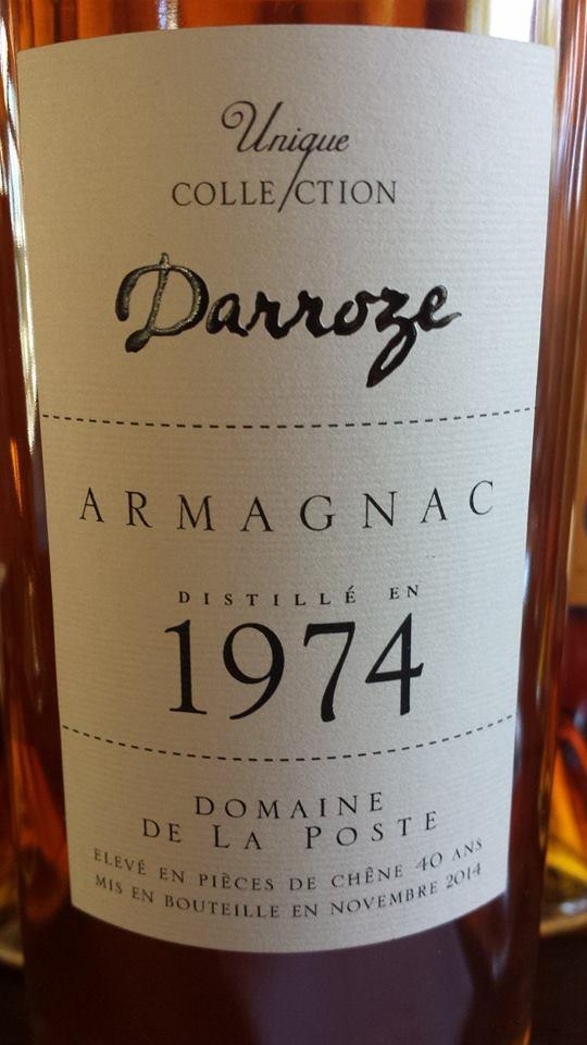 Unique Collection Darroze – 1974 – Domaine de la Poste – Armagnac