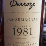Unique Collection Darroze – 1981 – Domaine de Couilleron – Bas-Armagnac