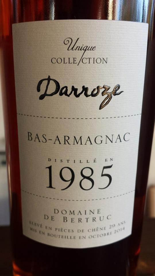 Unique Collection Darroze – 1985 – Domaine de Bertruc – Bas-Armagnac