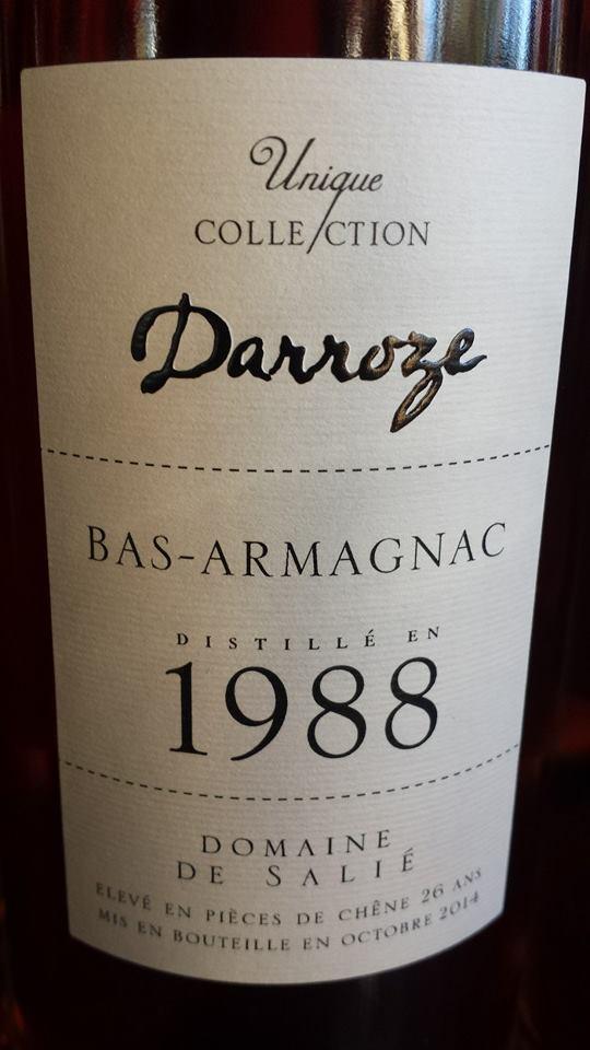 Unique Collection Darroze – Millésime 1988 – Domaine de Salié – Bas-Armagnac