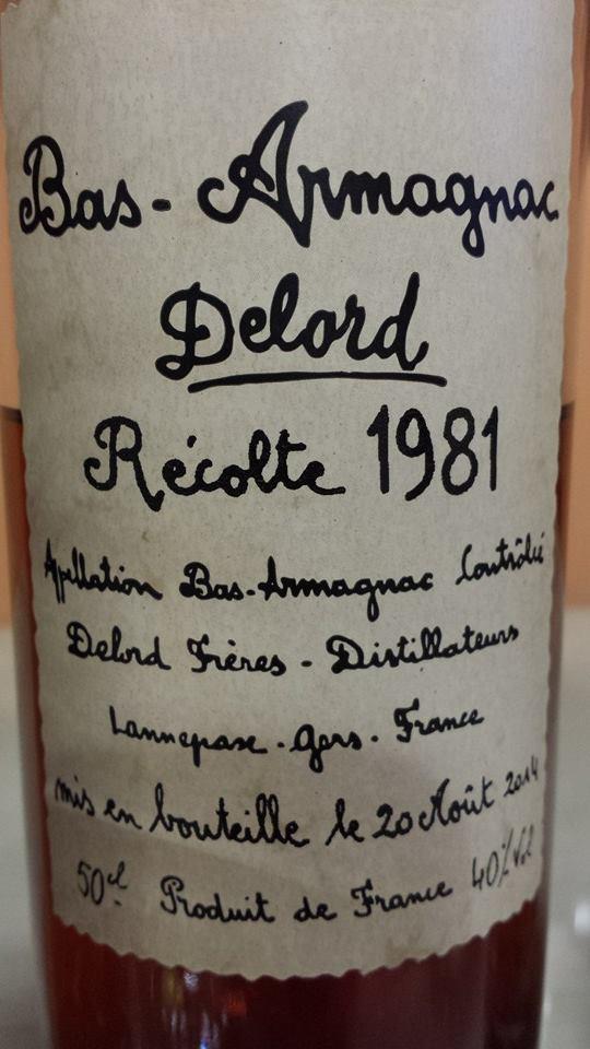 Armagnac Delord – 1981 – Bas-Armagnac
