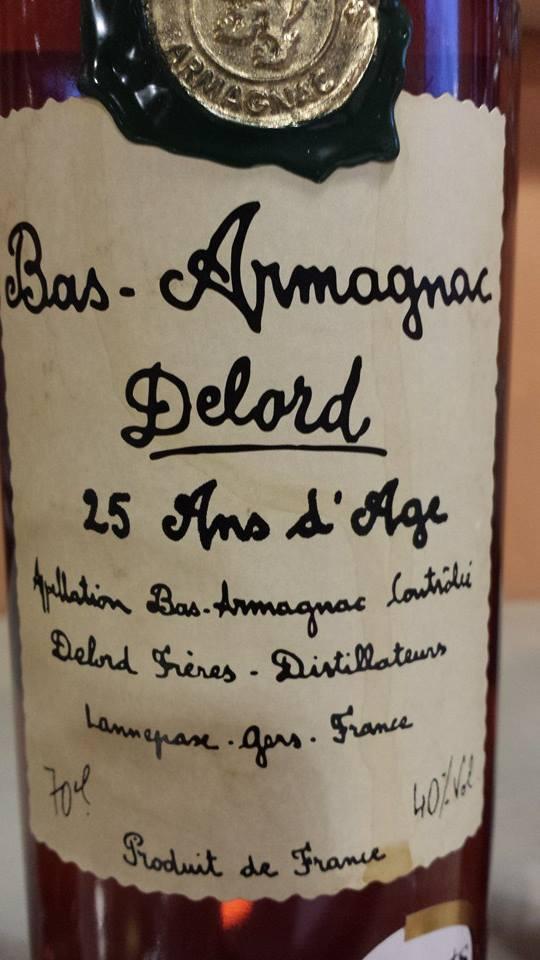Armagnac Delord – 25 ans d'âge – Bas-Armagnac