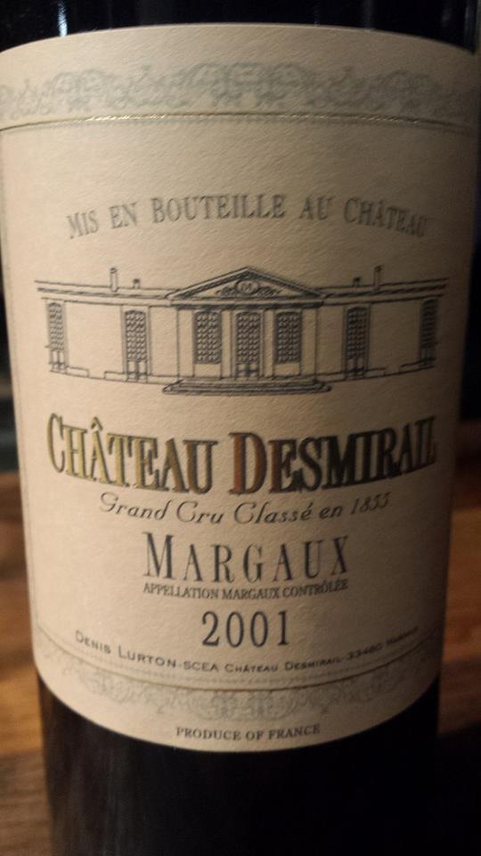 Château Desmirail 2001 – Grand Cru Classé, Margaux