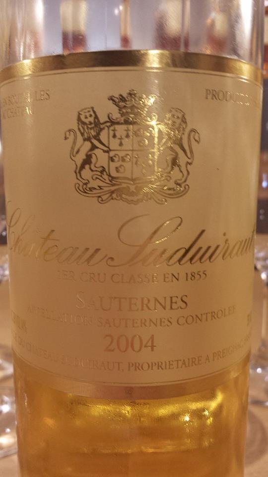 Château Suduiraut 2004 – 1er Cru Classé de Sauternes