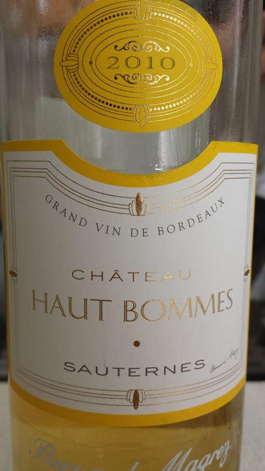 Château Haut-Bommes 2010 – Sauternes
