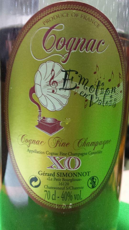 Cognac Simonnot – Emotion en Valois XO – Fine Champagne