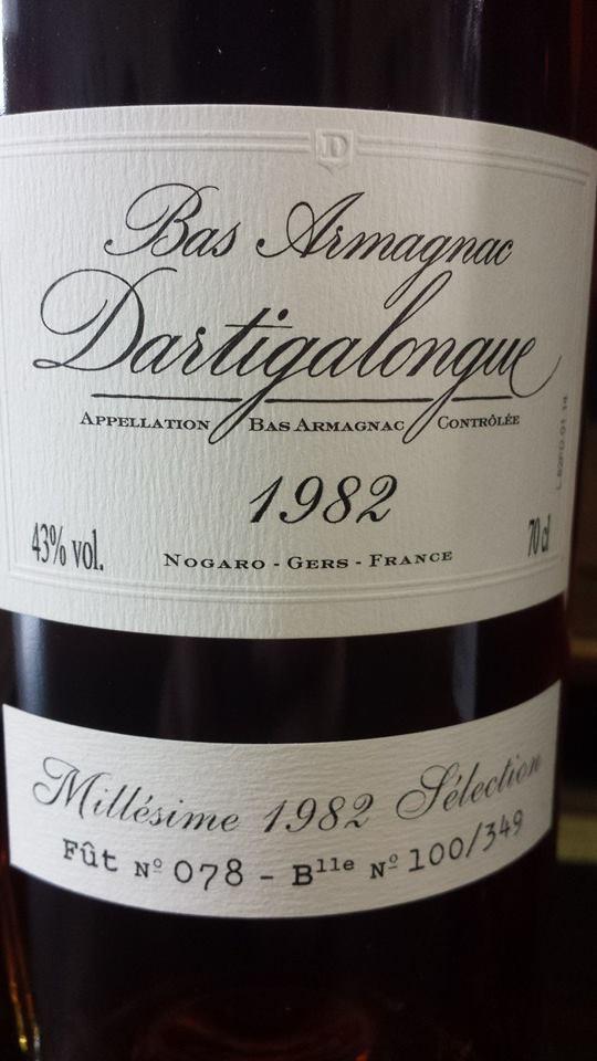 Dartigalongue – 1982 Sélection – Bas-Armagnac