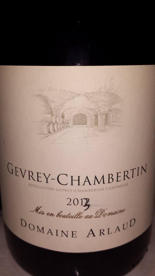 Domaine Arlaud 2013 – Gevrey-Chambertin