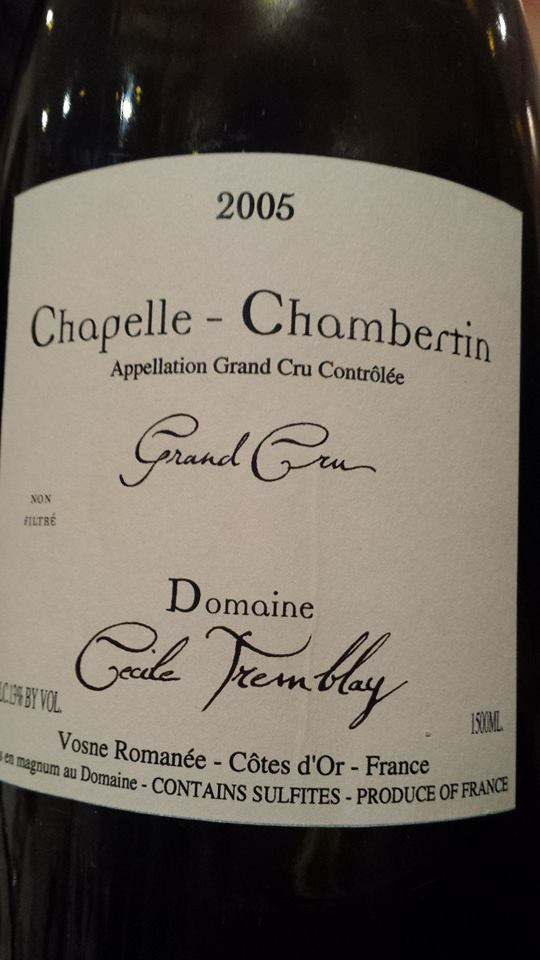 Domaine Cecile Tremblay 2005 – Chapelle-Chambertin Grand Cru