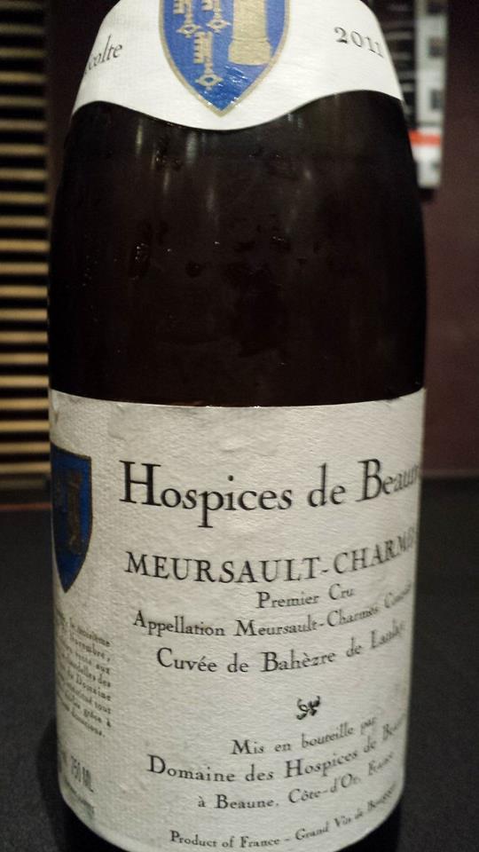 Domaine des Hospices de Beaune 2011 – Cuvée de Bahèzre de Lanlay – Meursault-Charmes 1er Cru