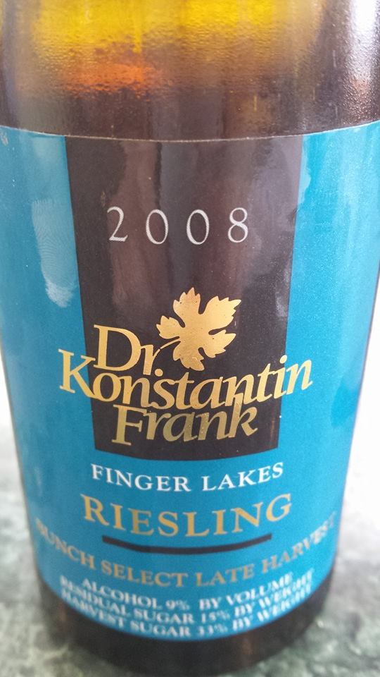Dr. Konstantin Frank – Riesling – Brunch Select Late Harvest 2008 – Finger Lakes