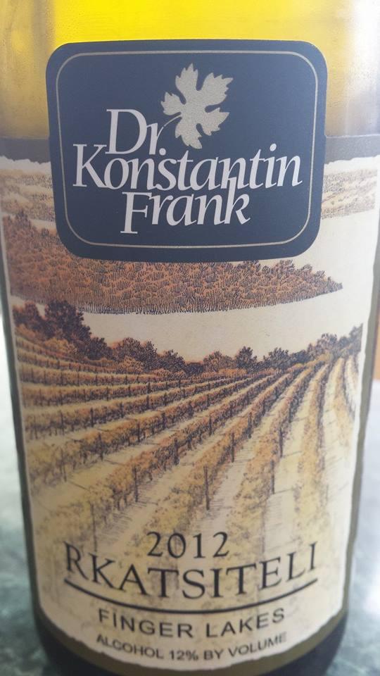 Dr. Konstantin Frank – Rkatsiteli 2012 – Finger Lakes