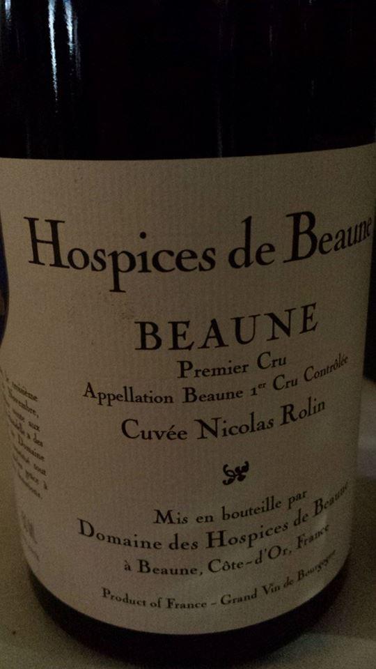Hospices de Beaune – Cuvée Nicolas Rolin 2010 – Beaune 1er Cru
